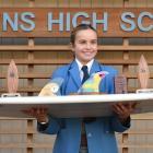 Queen's High School pupil Anika Ayson has won eight trophies this season. Photo: Gregor Richardson