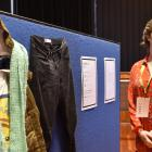 Students Against Sexual Violence volunteer Laura Cairns at an exhibition last week. Photo: Gregor...