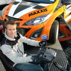 Dunedin rally driver Rhys Gardner demonstrates his racing game which he is launching at this...