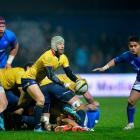 Romania's Florin Surugiu in action against Samoa last year. Photo: Getty Images