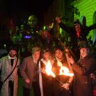 Revellers enjoy last year's Fire and Steam in Harbour St. The event was dropped by Tourism...