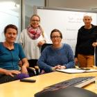 Wanaka Swim Academy owner and operator Stacey Wells (second from left) is supported by Wanaka...