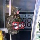 The Thirsty Liquor Valley Lodge's CCTV system captured this man taking the 18-box of Woodstock...