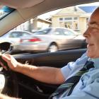 Dunedin streets are busier this year says taxi driver Dean Winton. Photo: Peter McIntosh