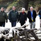 Otago Peninsula Community Board chairman Paul Pope (left), Dunedin City Council parks and...