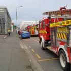 Fire crews at the scene this morning. Photo: George Block