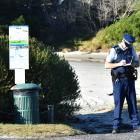 Police confirmed the body was found at 10am and asked people to avoid the beach. Photo: Peter...