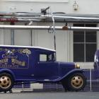 Two vintage Cadbury's vehicles. Photo: Peter McIntosh
