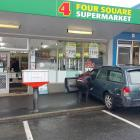 A car crashed into BrightonFour Square this morning. Photo: George Block