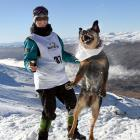 A game of snowball catch was great preparation for yesterday's  dog derby at Cardrona for Bec ...