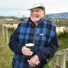 Dave Ross (81) has one last cup of tea at the Allanton saleyards, a place he has been coming to...
