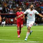 Diego Costa celebrates scoring for Spain in its win over Iran. Photo: Getty Images