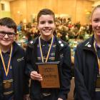 Andersons Bay School pupils (from left) Aidan Blake (9), Chloe Court (10) and Alex Smith (10) had...
