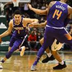 The Breakers may find themselves facing rising star Devin Booker (with ball) when they take on...
