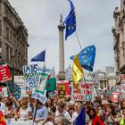 Thousands turned out for the People's Vote demonstration against Brexit in London. Photo: Getty
