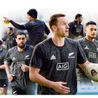 Highlanders players (from centre, left) Ben Smith, Jackson Hemopo,  Liam Coltman, Luke Whitelock,...