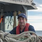 Niwa marine geologist Dr Joshu Mountjoy during the survey of the Kaikoura coastline, following...
