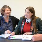Shelley Auld and her daughter, Kaikorai Valley College year 13 pupil Samara Marks, discuss the...