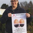 IMG 3209: Leona McCracken of Te Anau, organizer of the 2018 Te Anau Pink Ribbon Breast Cancer...