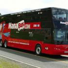 ManaBus says its double-deckers are a faster, environmentally-friendly alternative to air travel.