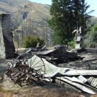 Chimneys are all that remain standing after the New Year's Day fire at Mount Aurum homestead....