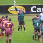 Maheno hooker Sam Robb prepares for a lineout during the Citizens Shield game against Athletic...