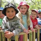 Queenstown Montessori pupils (from left) Isaac Warwar (4), of Queenstown, Phoenix Makatoa (4), of...