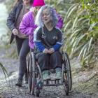 Navigating a track in Dunedin on Saturday to obtain accessibility information for app Accessibel ...