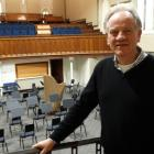 Conductor Kenneth Young admires the Dunedin Symphony Orchestra's rehearsal space in Hanover Hall...