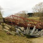 The Sutton bridge was destroyed in a flood  last year. Photo: ODT