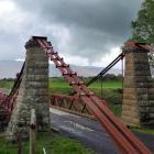 The Sutton suspension bridge before the flood. Photos: ODT/Linda Marshall.
