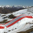 A new inflatable landing bag to be installed at Cardrona will allow snowsports athletes to...