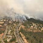 Handout photo of an aerial photo of the devastation left behind from the North Bay wildfires...