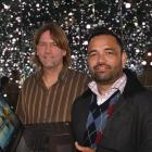 Paul Hansen (left) and Rueben Skipper, from 1000Minds, in the Infinity room at Otago Museum....
