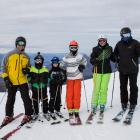 Australian visitors (from left) Paul Wenk with children Hugo (10), Sophie (7), Lily (12) and...