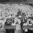 Pupils from junior classes at the Avarua public school, recently opened by the Cook Islands...
