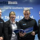 Blue Sky Meats general manager of operations Ross Smith (left), chief financial officer Jess...
