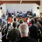 Flying Nun founder Roger Shepherd watches The Chills perform a 30th anniversary gig in Dunedin at...