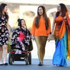 University of Otago students from left, Tweety Cheng, Umi Asaka, Sabrina Alhady, and Thisni de...