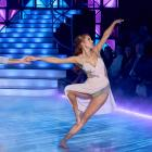 Samantha Hayes and her dance partner Aaron Gilmore in the Dancing With The Stars finale. PHOTO:...