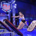 India Henry (22), formerly of Gore, jumps across obstacles during her Ninja Warrior run. Photo:...
