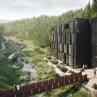An artist's impression of a hotel planned for Waterfall Park, near Arrowtown. Image: Supplied