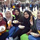 Students (from left) Idayu Harun, Yasmin Zafirah, Nurain Tajul, Seri Nur Sofia and Syairah Nizam...