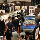 Art Lovers perusing the art at Friday evening Gala Opening