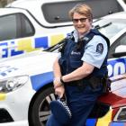 Senior Constable Kath Goodman is leaving the police force tomorrow after 38 years. Photo: Peter...