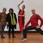 Mixing science and dance are (from left) Simon Kaan, Metiria Turei, Louise Potiki-Bryant and Rhys...