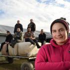 Alexandra shearer Pagan Karauria with members of a Dion Morrell Shearing gang Jack Simpson, Keri...