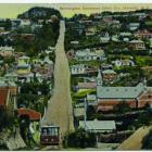 A view of the Mornington Extension line for the cable cars, which ran for 1.6km along Glenpark...