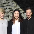 Lauren Christie (left), Melanie Halliday and Josh Gibbons. PHOTO: PAUL TAYLOR