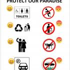 Glenorchy Community Association's mock-up of the sign it wants put up around the town. Photo:...